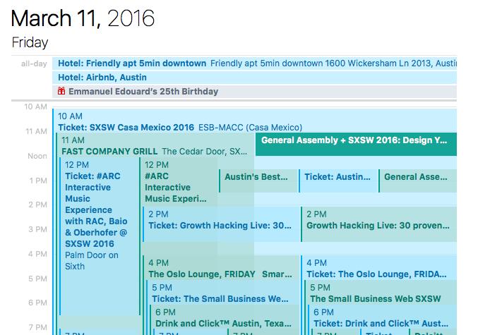 sxsw schedule day 1