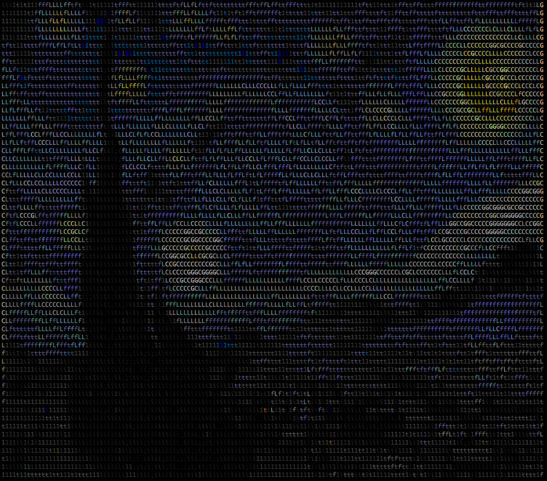 Van Gogh Starry Night ASCII