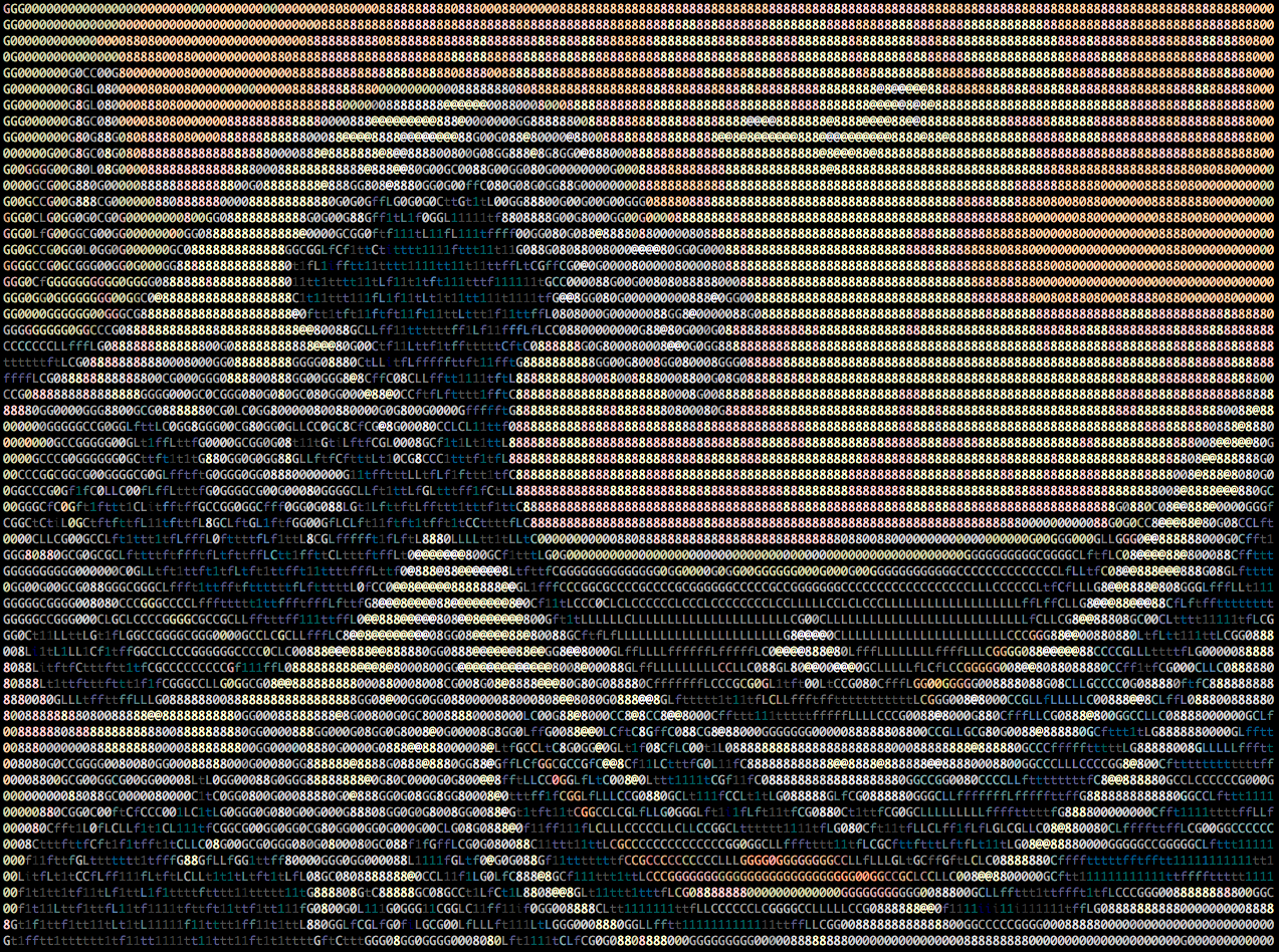 The great wave off of Kanazawa Hokusai ASCII
