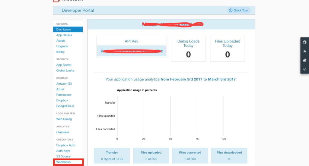 Filestack Dev Portal