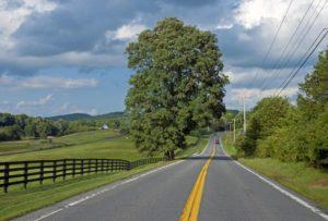 Orginal image of a road