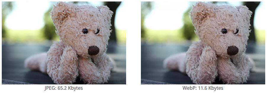 JPEG vs WEBP example