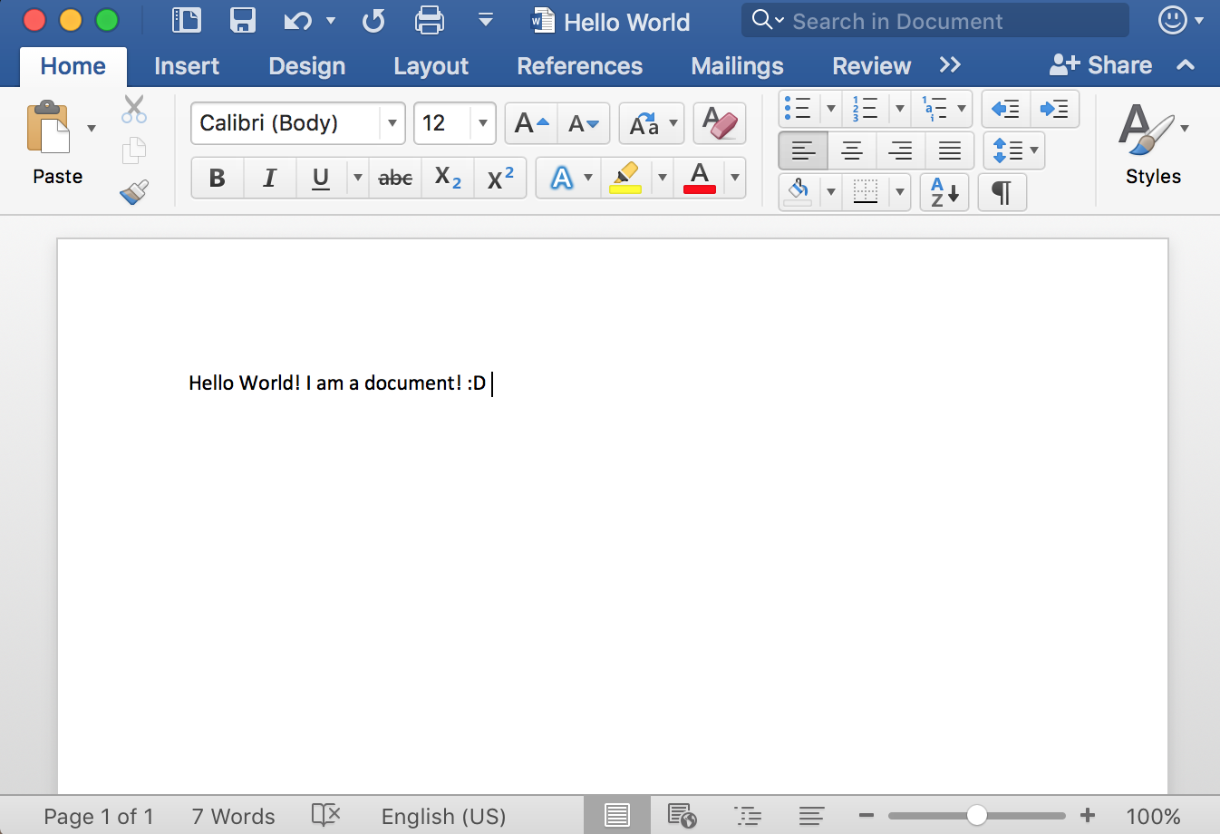 .DOC File Example on Word