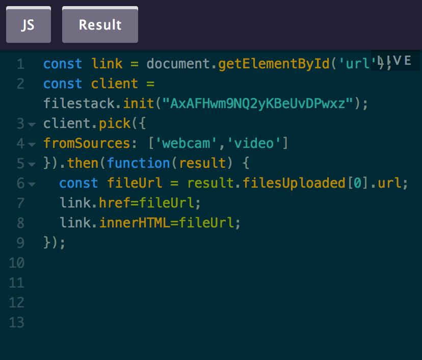Webcam enabled in File Uploader