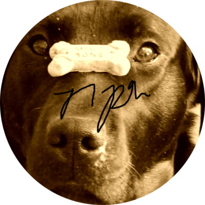 dog image with signature