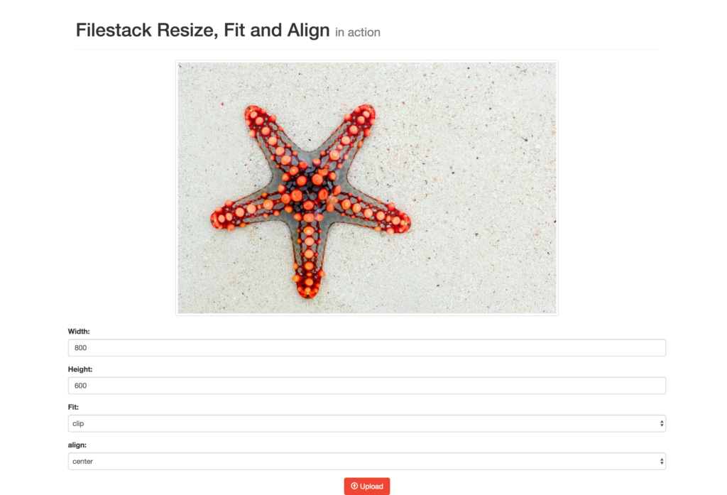 Resize, Fit and Align Images with Filestack and React