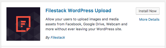 The Filestack WordPress Upload Plugin