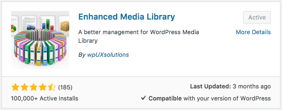 Enhanced Media Library plugin