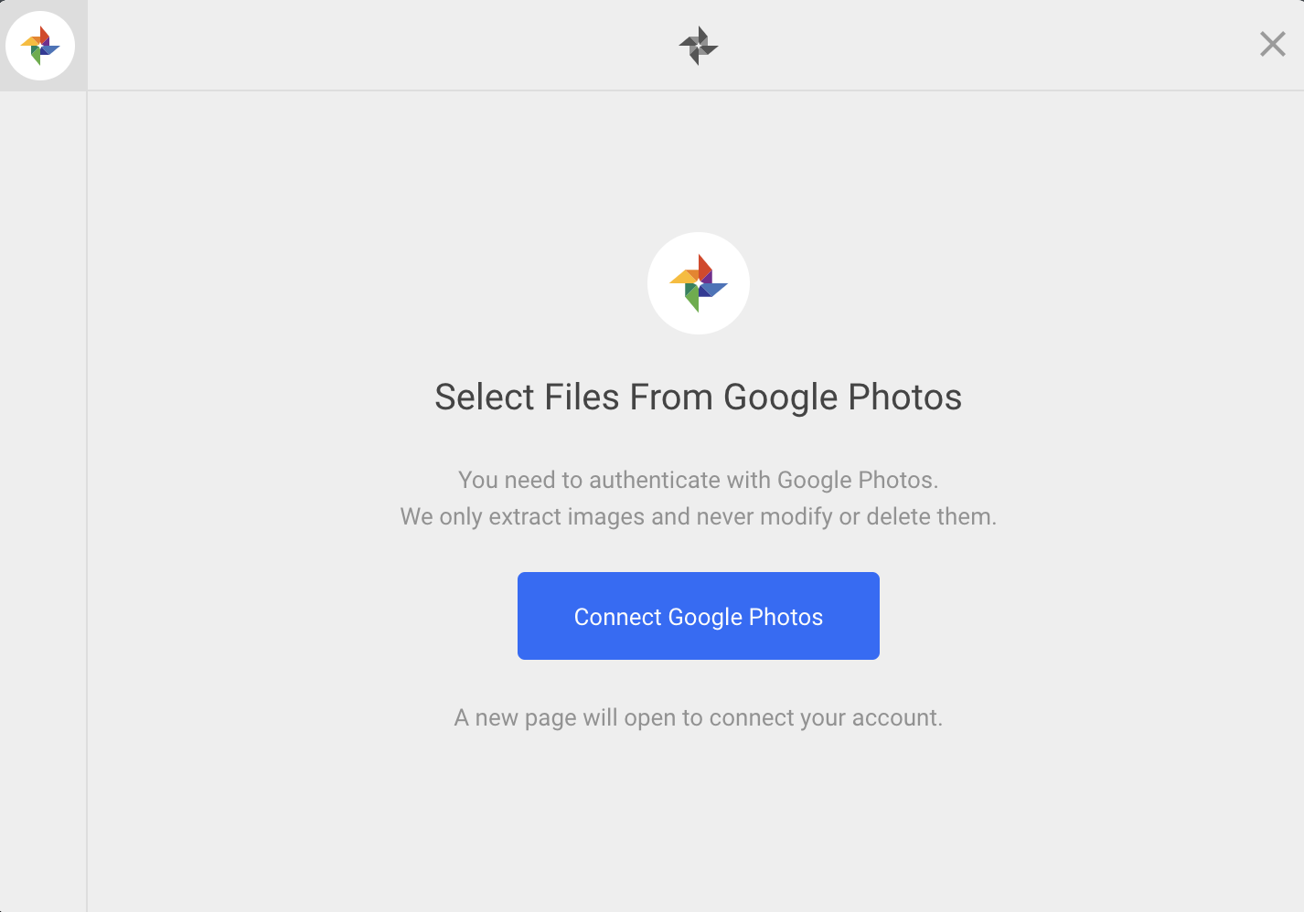 Upload from Google Photos API