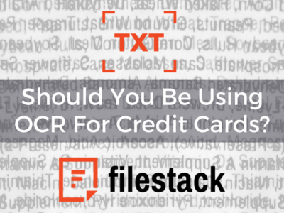 should you be using ocr for credit cards?